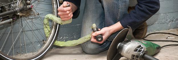Bike Lock Cutting Thieve