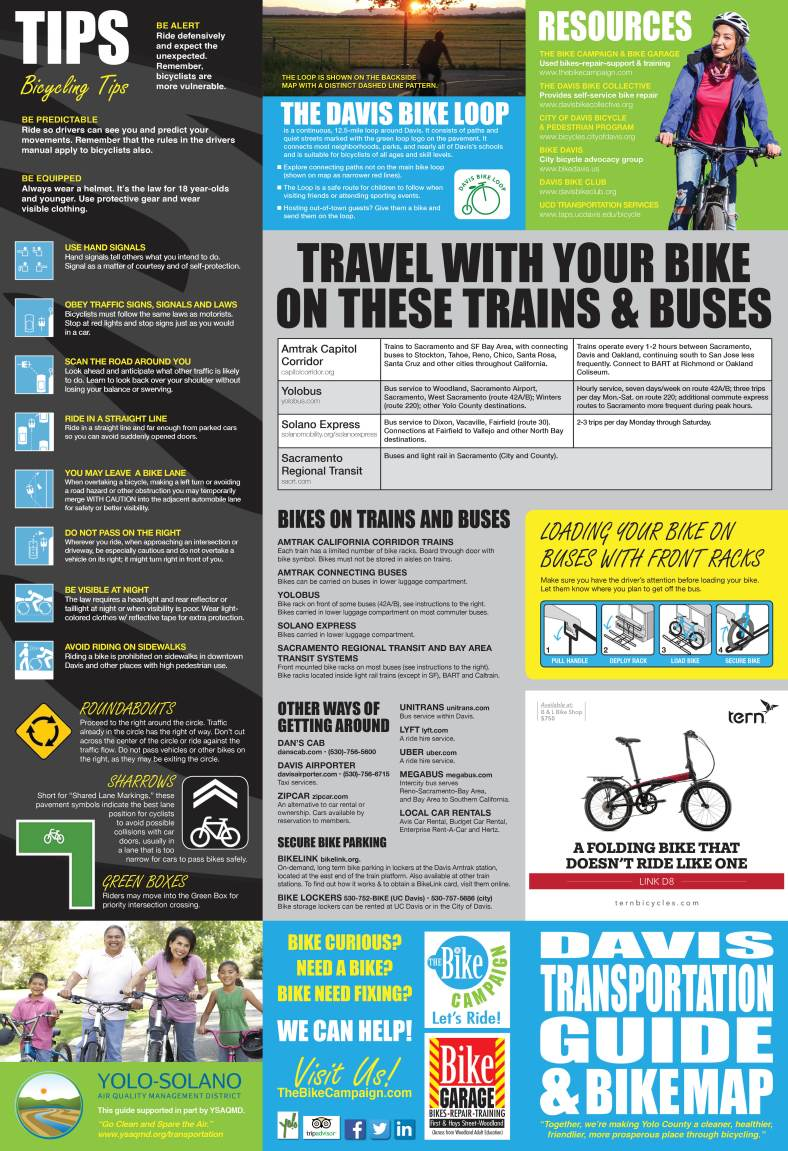 Davis Bike Map and Transportation Guide-FINAL