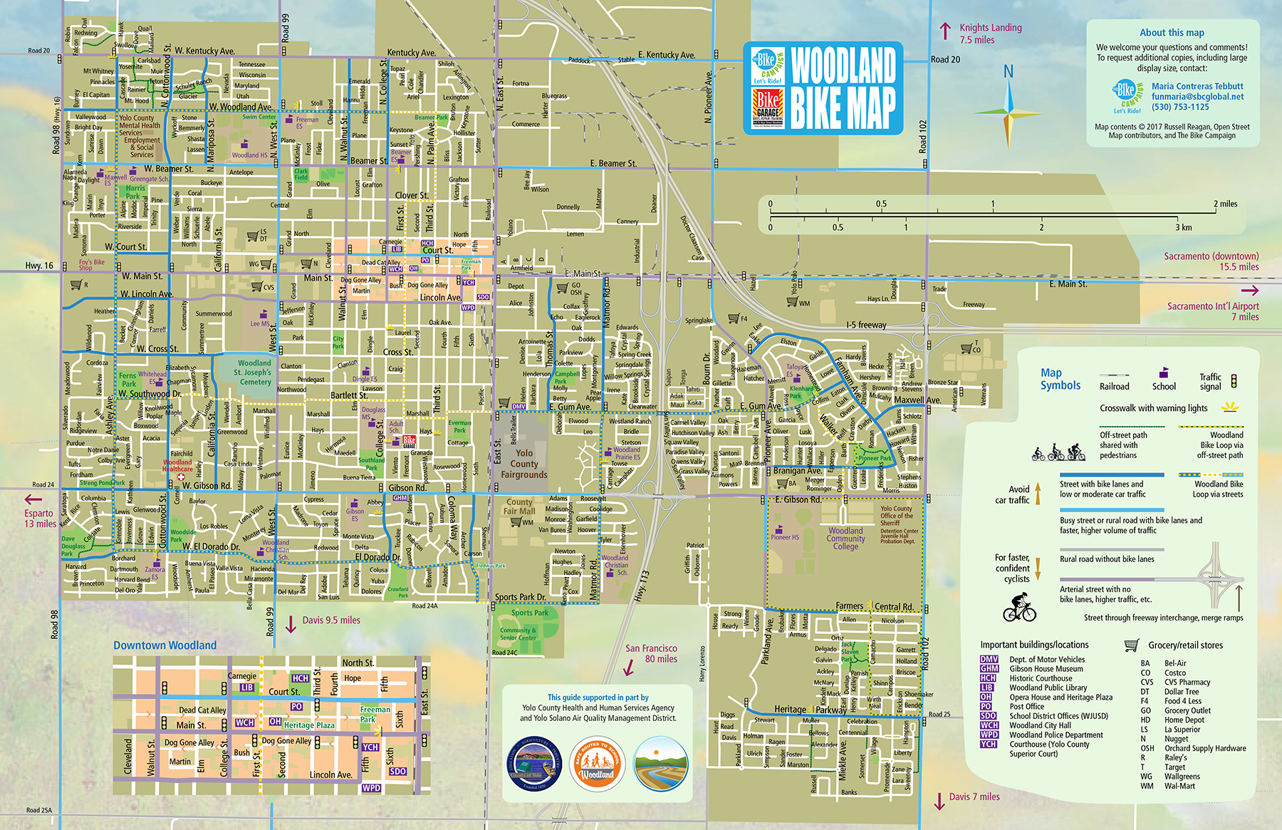 Woodland Bike Map